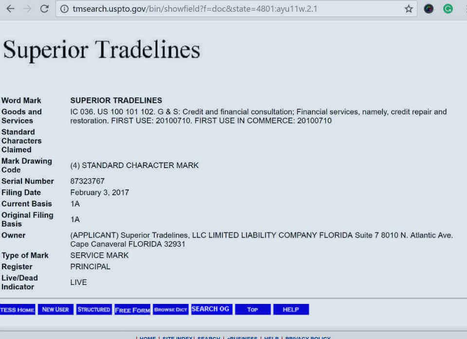 superior tradelines trademark