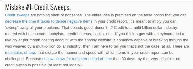 credit sweep