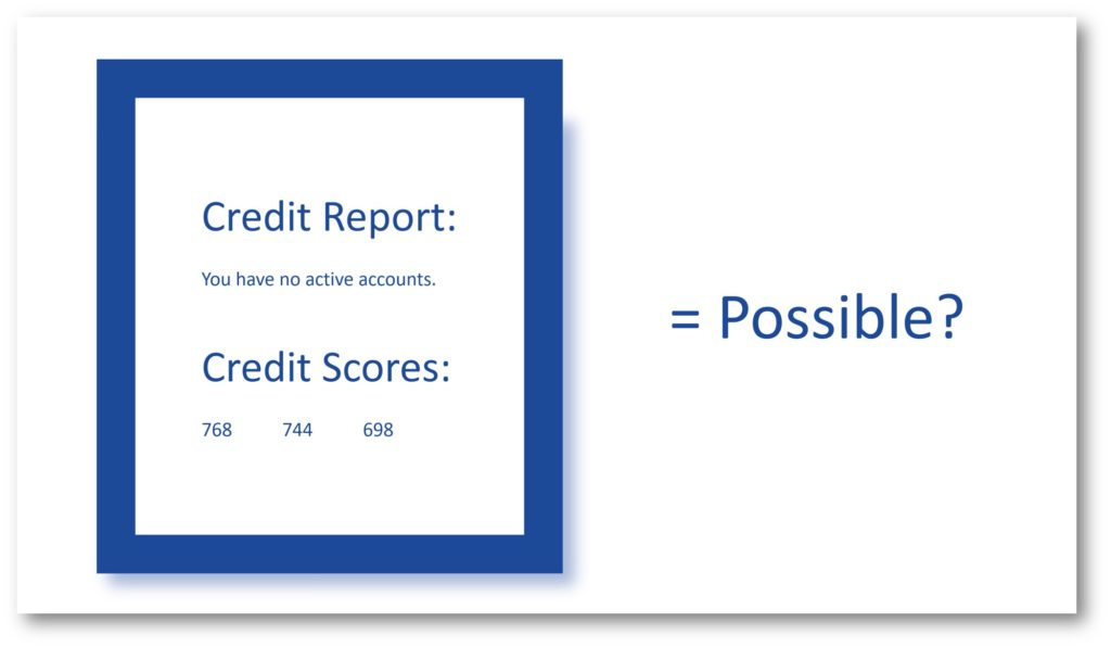 tradelines with no credit report accounts
