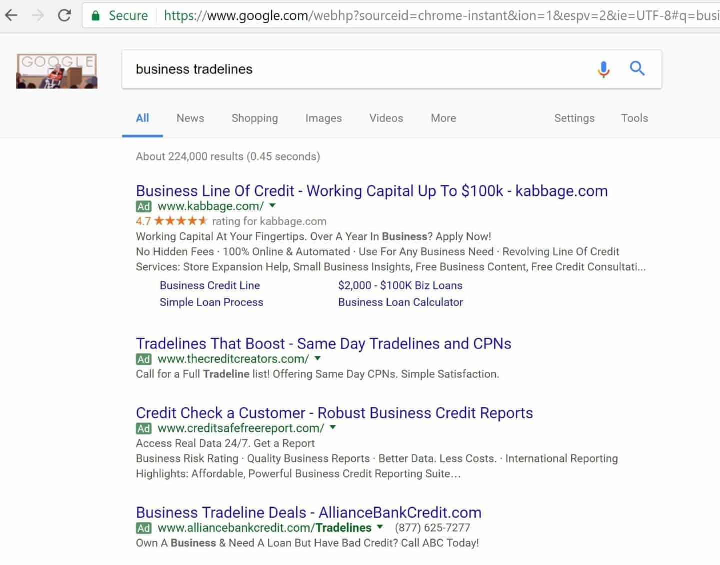 business tradelines search