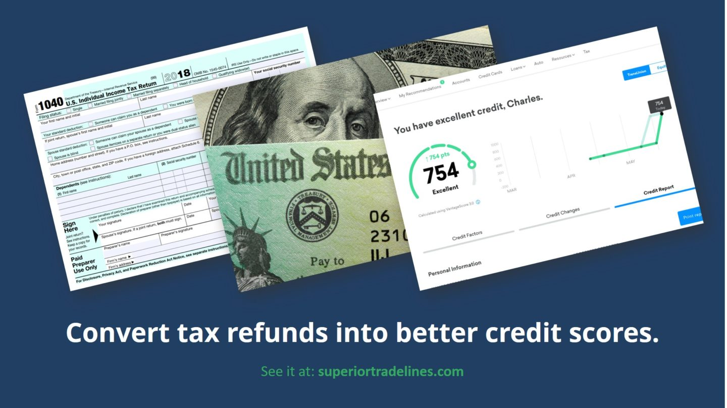 Convert tax refunds into better credit scores