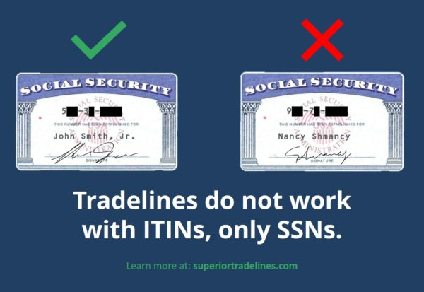 tradelines and itins